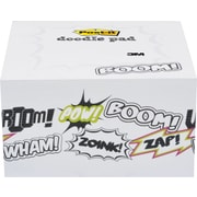 "Post-it® Printed Notes Cartoon Design Doodle Pad, 4"" x 4"", White, 450 Sheets"