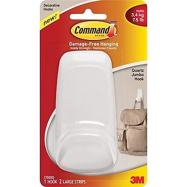 Command™ Jumbo Hook, Quartz