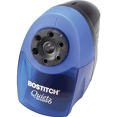 Stanley Bostitch Quiet Sharp 6 Desktop Electric Pencil Sharpener, Blue