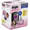 Gojo LTX-7 Antibacterial Foam Handwash Kit, 700mL, Touch-Free, Chrome/Black