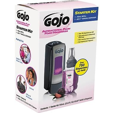 Gojo ADX-7 Antibacterial Foam Handwash Kit, 700mL, Manual, Chrome/Black