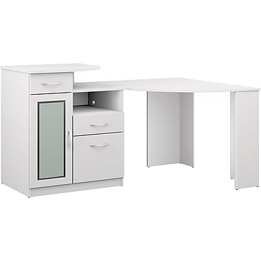 Bush Furniture Vantage Corner Desk, Pure White (HM66115A-03)