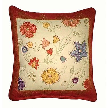 Chéné-Sasseville Samarkand Woven Throw Pillow, Inlay Pattern