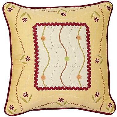 Chéné-Sasseville Mindanao Woven Throw Pillow, Inlay Pattern