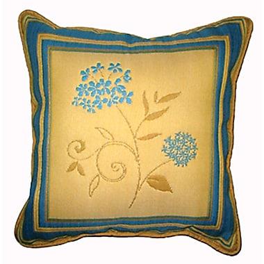 Chéné-Sasseville - Coussin carreau tissé Eden bleu, motif central