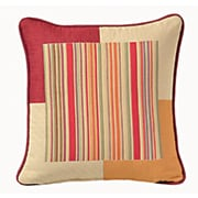 Chéné-Sasseville Corfu Woven Throw Pillow, Inlay Pattern II