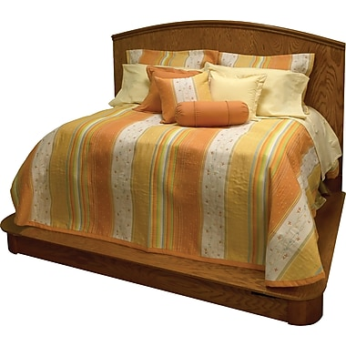 Chéné-Sasseville Garden Reversible Bedspread with 2 Shams, Extra Queen