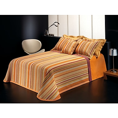 Chéné-Sasseville Mendoza Reversible Bedspread with 2 Shams, Extra Queen
