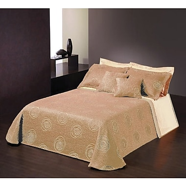 Chéné-Sasseville Tusa Reversible Bedspread with 2 Shams, Extra Queen