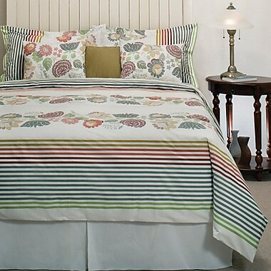 Organicque Sorel Reversible Duvet Cover with 2 Shams, Double