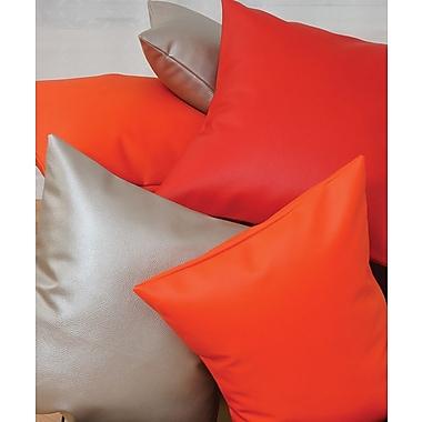 Chéné-Sasseville - Coussin carreau aspect cuir, 15 po x 19 po, rouge