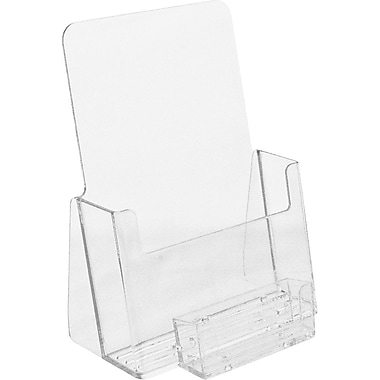 Acrylic Brochure Holders, Half Fold Countertop