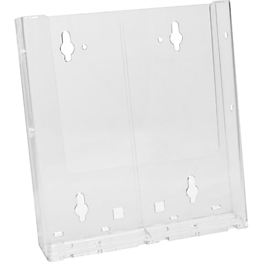 Acrylic Brochure Holders, Half Fold Countertop with Business Card Attachment Kits