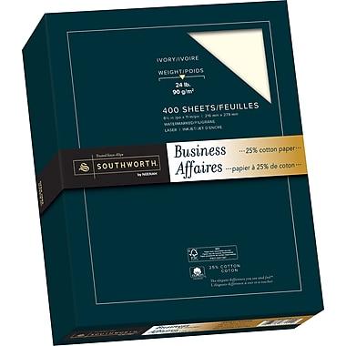 Southworth® 25% Cotton Business Paper, 24 lb, 8-1/2