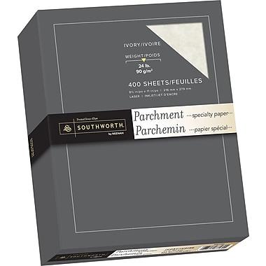 Southworth® - Papier parchemin, 24 lb, 8 1/2 po x 11 po, ivoire, paq./400