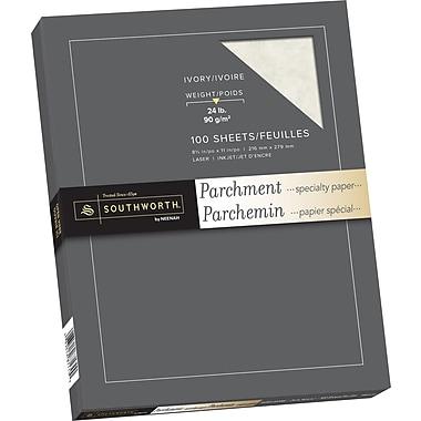 Southworth® - Papier parchemin, 24 lb, 8 1/2 po x 11 po, ivoire, paq./100