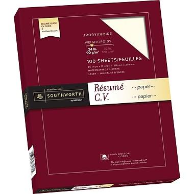southworth 174 100 cotton resume paper 24 lb 8 1 2 quot x 11