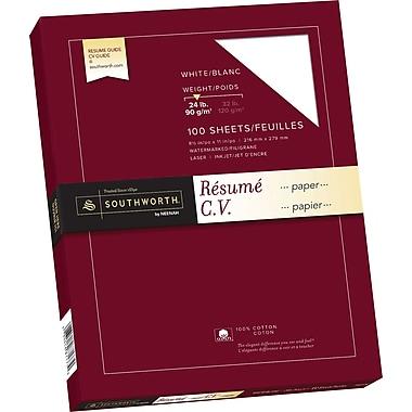 Southworth® 100% Cotton Resume Paper, 24 lb, 8 1/2