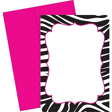 Great Papers® Black & White Zebra Invitations, 20/Pack