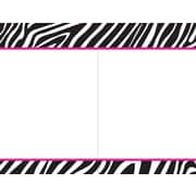 Great Papers® Black & White Zebra 2-Up Invitations, 40/Pack