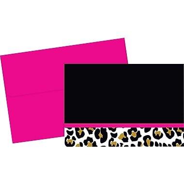 Great Papers® Leopard Print Note Cards, 24/Pack