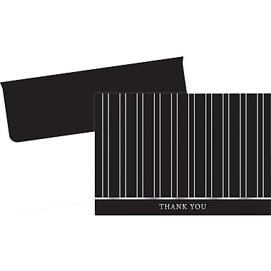 Great Papers® Silver Foil Pinstripe Thank You Cards, 24/Pack