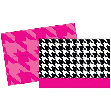 Great Papers® Black & White Houndstooth Note Cards, 25/Pack