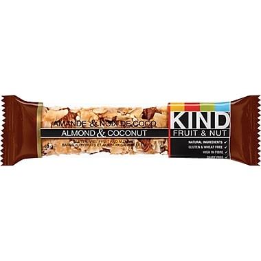 KIND® – Barres de collation Fruit and Nut, amandes et noix de coco, 40 g, bte/12 barres