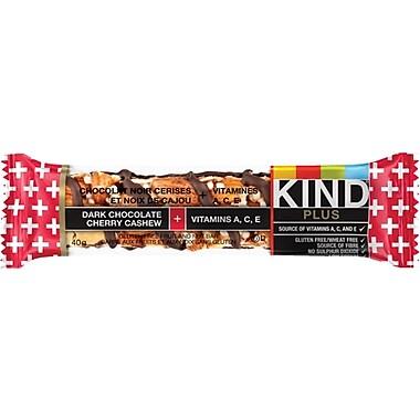 KIND® Plus Dark Chocolate Cherry Cashew + Antioxidants Snack Bars, 40 g, 12 Bars/Box
