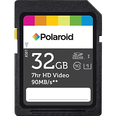 Polaroid 32GB High Speed SDHC UHS-1 Class 10 Flash Memory Card