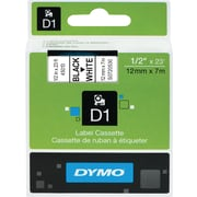 DYMO 1/2 D1 Label Maker Tape, Black on White