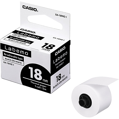 Casio XA-18WE1 Label Tape