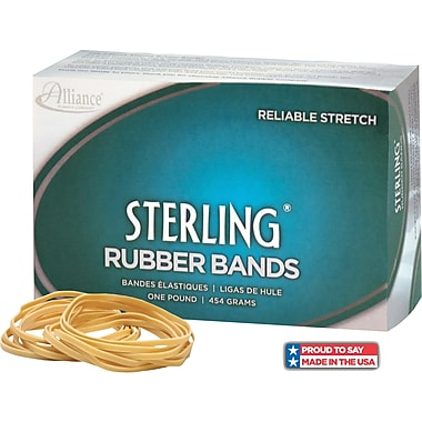 Alliance Sterling Rubber Bands, #64 (3 1/2in. x 1/4in.) Approximately 425/1 lb. box.
