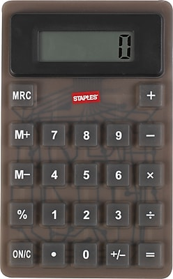 Staples Flexible Calculator Black