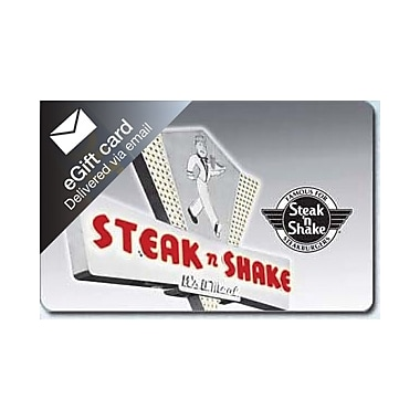 Steak N Shake Gift Card $25 (Email Delivery)