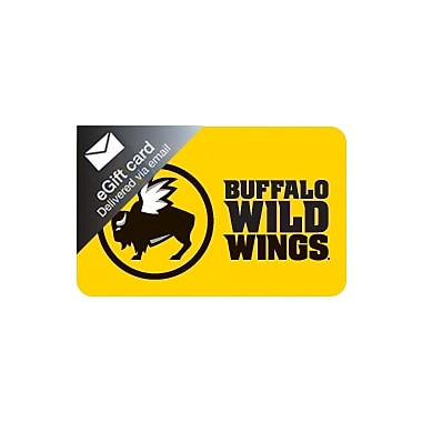Buffalo Wild Wings Gift Card  $25 (Email Delivery)