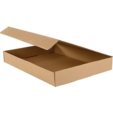 Boîtes d'expédition pour documentation, 15 1/8 po x 11 1/8 po x 2 po, blanc, 50/lot