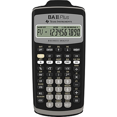 Texas Instruments - Calculatrice financière TI-BAII Plus