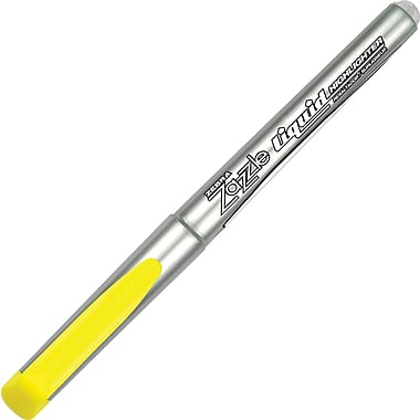 Zebra Zazzle Liquid Highlighters, Chisel Tip, Fluorescent Yellow
