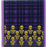 1-1/2 Teen Vogue Better Binder, Plaid Skulls