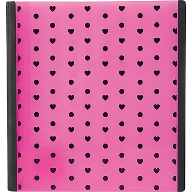 Teen Vogue Better 1.5-Inch D 3-Ring Non-View Binder, Pink Hearts (26238)