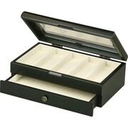 HomePointe Wooden Watch Box, Black