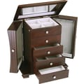 HomePointe Contemporary Wooden Jewelry Box, Espresso