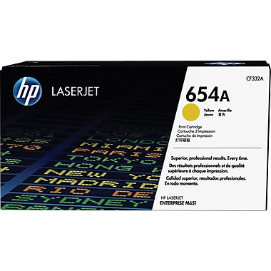 HP 654A ColorSphere Yellow Toner Cartridge (CF332A)