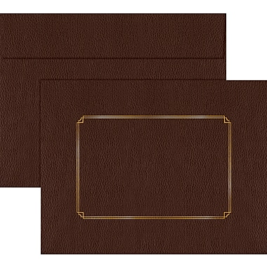Great Papers® Brown Leather Certificate Envelopes, 5/Pack