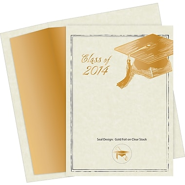 Great Papers® Etched Grad Hat Invitations w/ Seals, 10/Pack