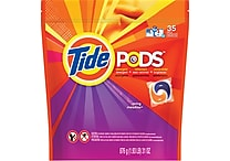 Tide® PODS™ HE Laundry Detergent Pacs, Spring Meadow™, 35 Pods/Pack