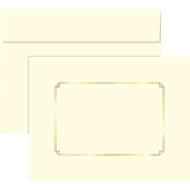 Great Papers® Ivory Foil Certificate Envelopes, 5/Pack