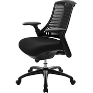 At The Office 10 Series Task Chair , Black Back