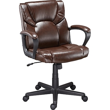 Staples Montessa II Luxura Managers Chair, Brown